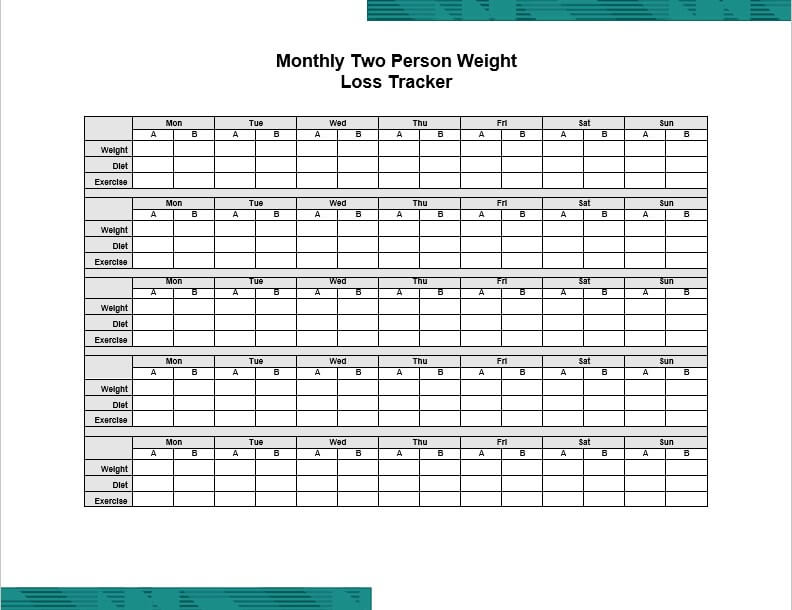 Two Person Weight Loss Tracker