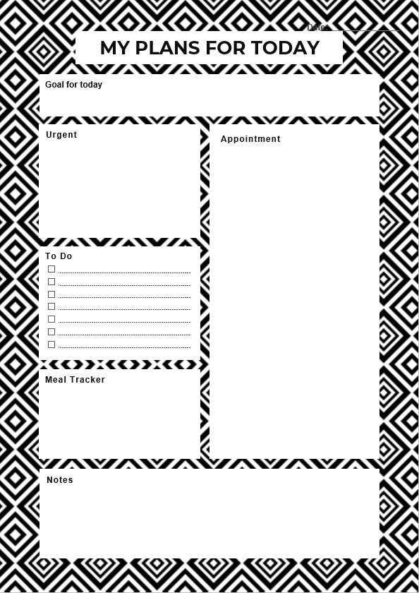 Daily Planner Today Template
