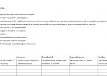 Sample Business Action Plan Example