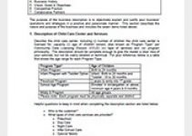 Sample Child Daycare Business Plan Template