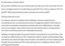 Sample Consulting Services Business Plan Template