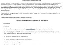 Sample Residential Construction Management Plan Template