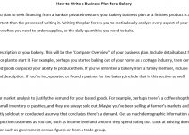 Sample how to write a bakery business plan 1