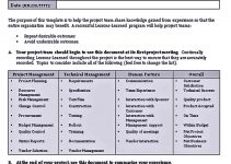 Project Lessons Learning Template