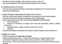 Templates First Parent Meeting Outline Sample