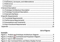 Templates Product Specification Outline Sample