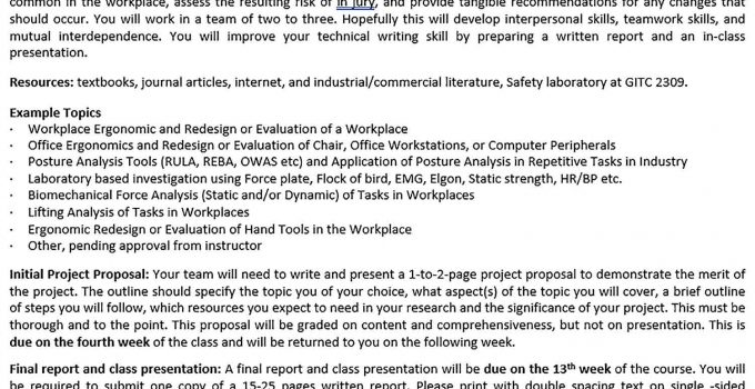 Templates Project Term Outline Sample