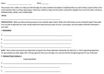 Templates Research Paper Outline Sample