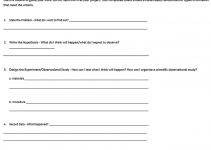 Templates Science Project Outline Sample