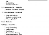 Templates Training Session Outline Sample