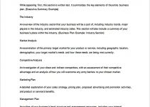 Templates Write a Business Plan Outline Sample
