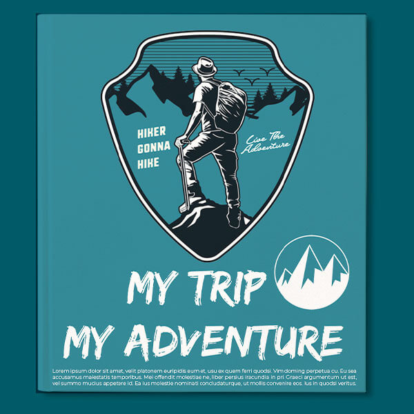 Adventure Binder Cover Template Photoshop