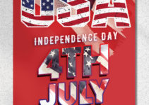 Independence Day Greeting Card Design PSD