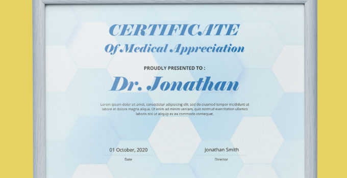 Medical Certificate Template Example