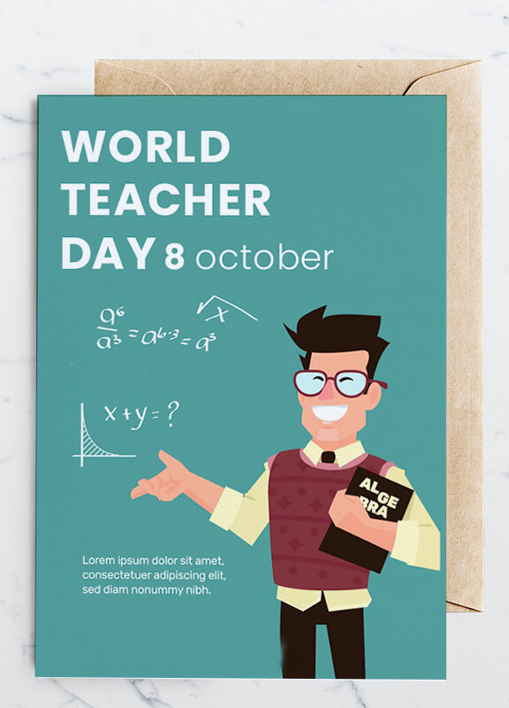 teachers day greeting card psd template free  room surf