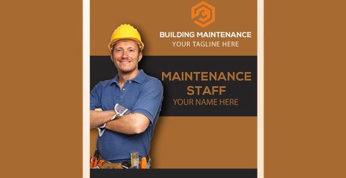 PSD Template For Building Maintenance ID Card