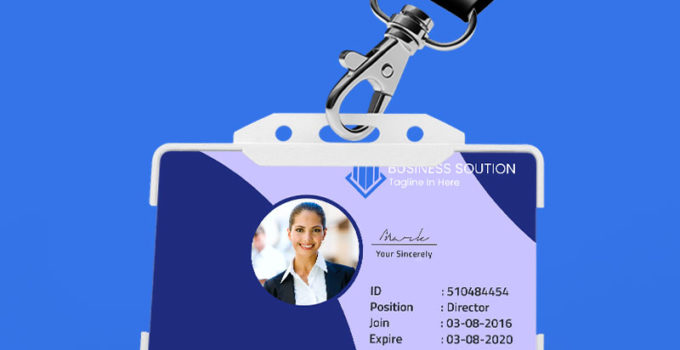 PSD Template For Business Solustion ID Card