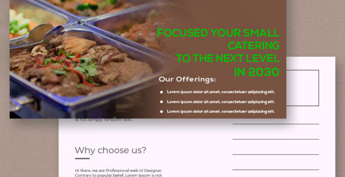 PSD Template For Catering Postcard