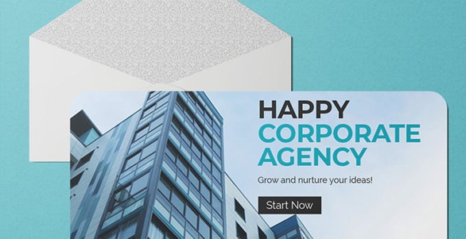 PSD Template For Corporate Greeting Card