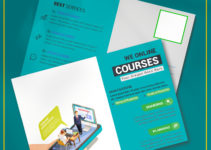 PSD Template For Coursus Postcard
