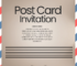 PSD Template For Post Card Invitation