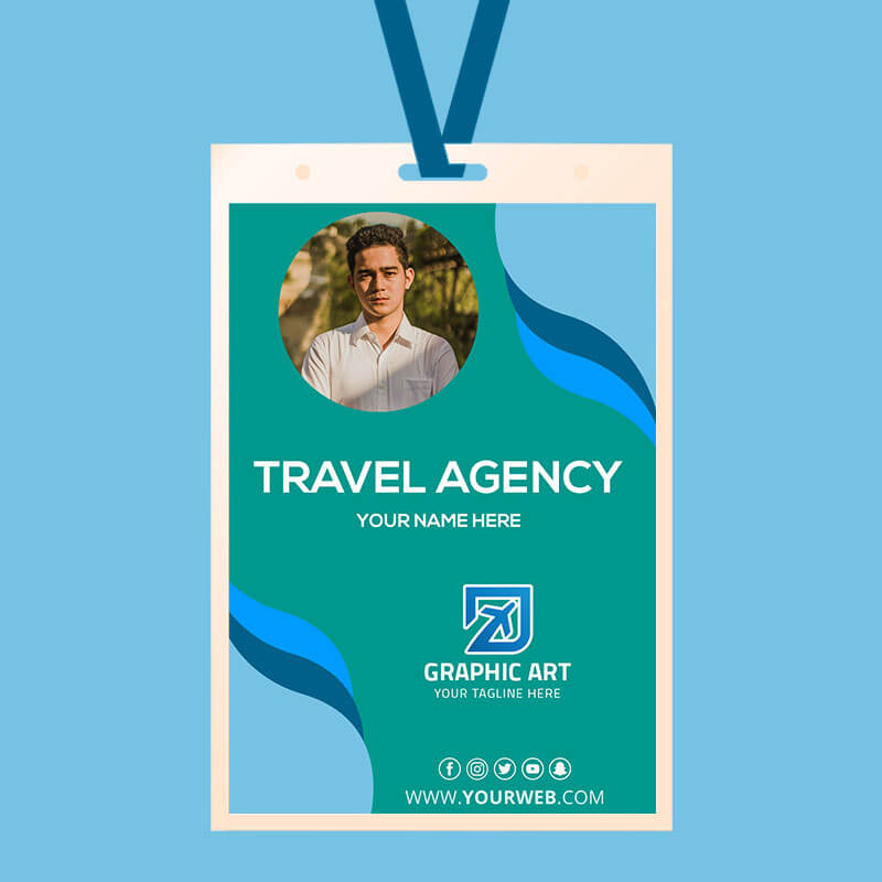 Travel Agency ID Card PSD Flyer Template