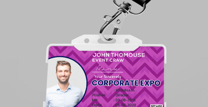 Sample Event ID Card Template