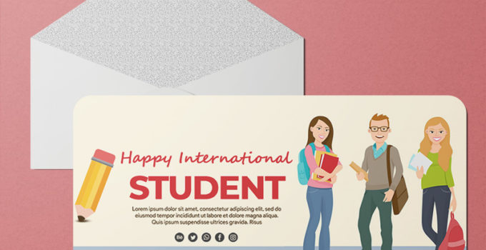 Student Day Greeting Card Templates Ideas