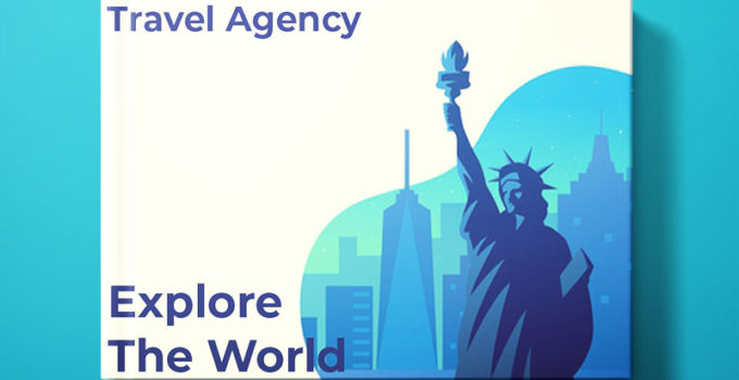 Travel Agency Book Cover Design Template