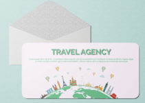 Travel Agency Greeting Card Template Ideas