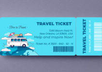 Travel Ticket Template Sample