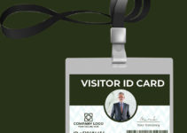 Visitor ID Card Template Example
