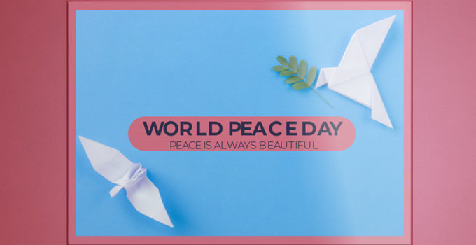 World Peace Day Greeting Card Template Example