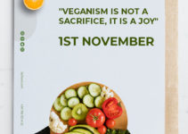World Vegan Day Greeting Card Template Example
