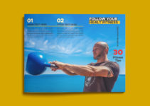 PSD Template For Fitness Magazine