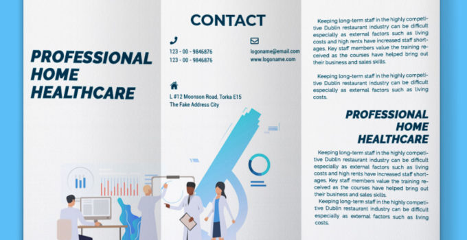 PSD Template For Home Healthcare Brochure
