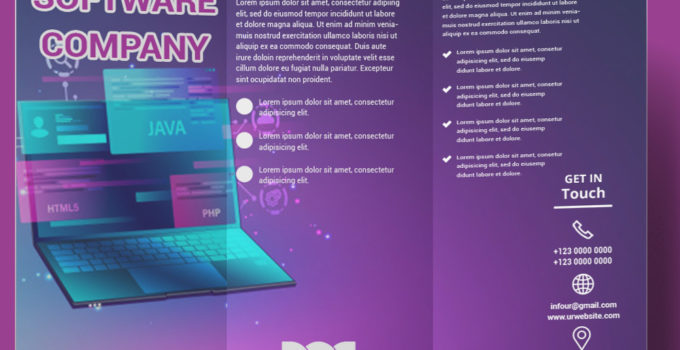 Software Company Brochure Template Example