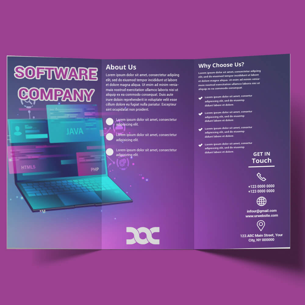Software Company Brochure Free Download Psd Room Surf Com