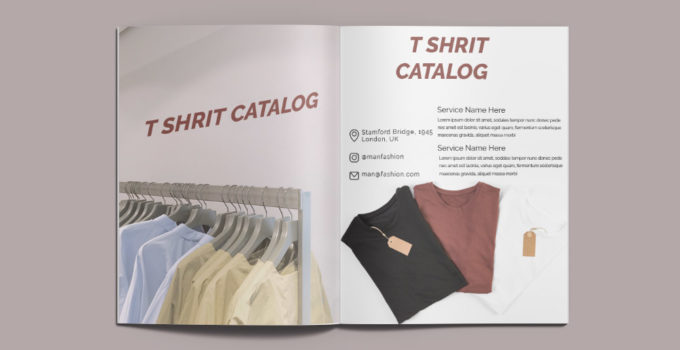 T shirt Catalog Template Example