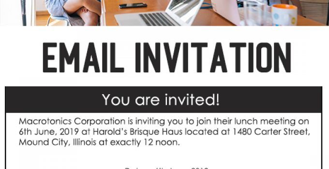 Email Invitation Free Download PSD