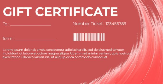 Gift Certificate Free Download PSD 1