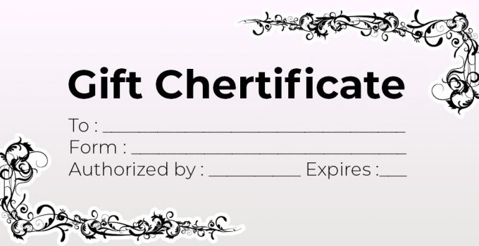 Gift Certificate Free Download PSD