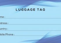 Luggage tag Free Template in PSD