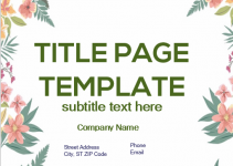 Title Page Free Template in PSD