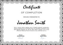 certificate of completion PSD Flyer Template