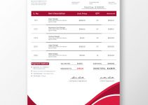 commercial invoice Free PSD Template