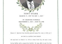 funeral announcement Example PSD Design