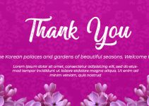 thank card Free Download PSD