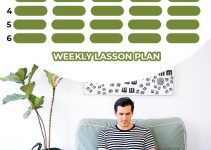 weekly lesson plan Free PSD Template