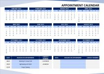 Appointment Calendar Template free download word